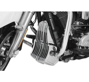 Kuyakyn Chrome Precision Regulator Cover for Harley 2017-2018 Electra Glides, Road Glides, Road Kings, Street Glides and -