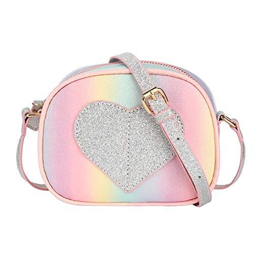 Handbag Girls Purse (CMK Trendy Kids Mini Heart Shape Kids Purse and Handbags for Little Girls Cross Body Bag for Toddlers (PKBURB), Small)