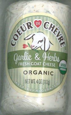 Montchevre Organic Goat Log Garlic & Herb