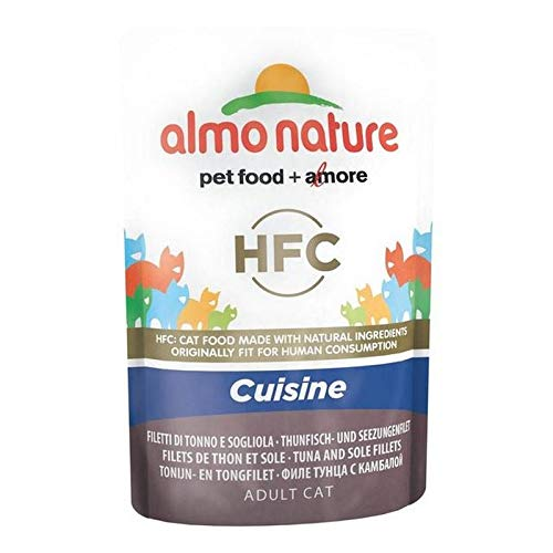 Almo Nature Cat Pouch HFC Cuisine Tuna and Sole Fillets 24 x 55g