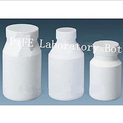 GOWE PTFE - Botella de laboratorio con boquilla de teflón con boca grande y tapa,