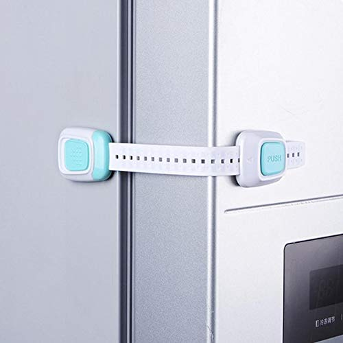 Baby Proof Cabinets Locks for Kitchen Closet Oven Refrigerator, Child Safety Latches for Garbage Can Stove Windows From LOVE MEI for Baby Watching (4 Different Locks)