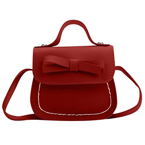 Children Princess Backpack for Elementary School Girls,Londony✡ Tote Handbags Shoulder Bags Hobo Bags Satchel Purses Red