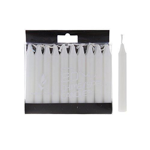 Mega Candles 20 pcs Unscented White Mini Taper Candle | 4