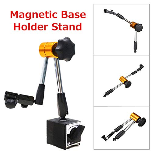 Gotian Universal Magnetic Metal Base Holder Stand Dial Test Indicator Flexible Tool Kit, Flexible, Strong Precise Rotary Joints, Adjust Any Direction and Location