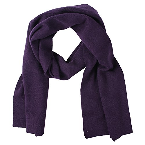 Winter Knit Scarfs for Women, Color Inchoice Fashion Cable Knit Warm Cashmere Feel Scarves(Purple) (Cashmere Cable Scarf Knit)