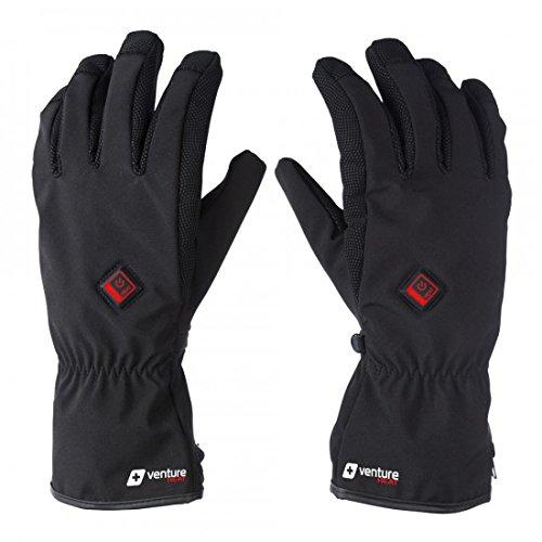 Black Heated Glove - VentureHeat Unisex-Adult Alt Battery Heated Gloves (Black,Small), 1 Pack