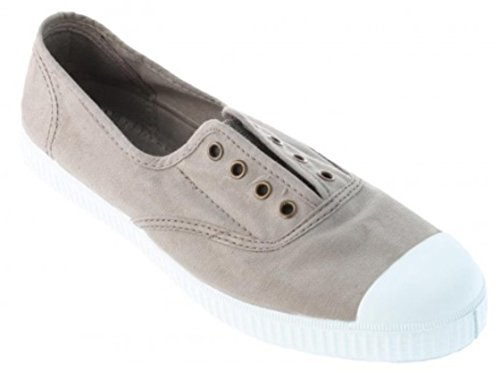 Victoria Womens Canvas Inglesa Elastico Fashion Sneakers Made In Spain Stone
