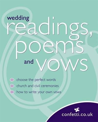 confetti wedding readings poems and vows