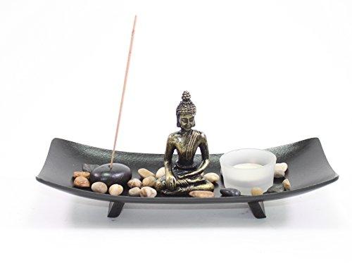 Buy cheap tabletop buddha zen garden rock candle holder home decor relaxing tranquility gift