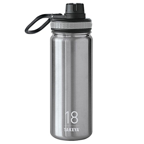 Price comparison product image Takeya Originals Insulated Stainless Steel Water Bottle,  18 oz,  Steel