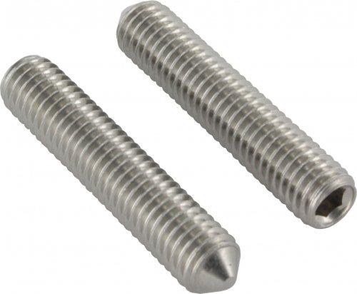 Gewindestift mit Spitze, mit Innensechskant, M8 x 30mm, DIN 914 / ISO 4027, 10er Pack edelstahlonline24