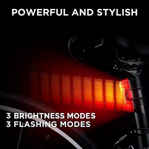 Amazon.com : Apace Vision Luz Trasera Para Bicicleta Recargable USB - Potente LED Faro Trasero Bici - Muy Luminoso y Fácil de Instalar Luces Rojas Máxima ...
