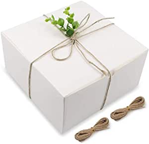 Cakes White Gift Boxes 8 x 8 x 4 Great For All Occasions 10 Pack Boxes for Gifts Cupcakes Mugs Cookies Craft box