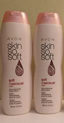 Lot Of 2 - Avon Skin So Soft- Soft & Sensual Plus Argen Oil Body Lotion