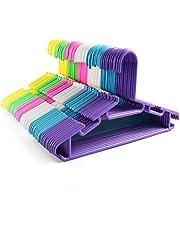Tosnail 60 Pack Plastic Children's Hangers Baby Hangers Kids Hangers Toddler's Hangers - Assorted 6 Colors