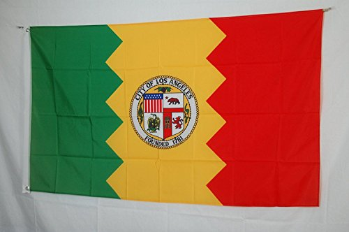 ALBATROS 3 ft x 5 ft City of Los Angeles Flag California Banner Brass Grommets for Home and Parades, Official Party, All Weather Indoors Outdoors]()