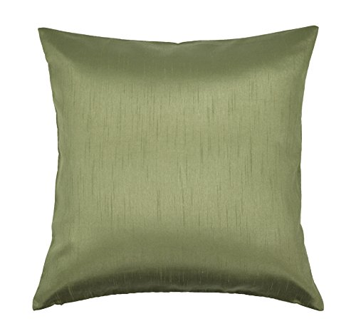 - Aiking Home Solid Faux Silk Euro Sham/Pillow Cover, Zipper Closure, 26 by 26 Inches, Sage