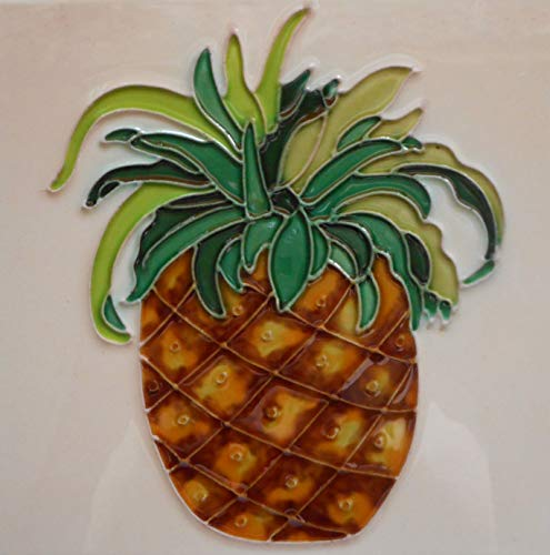 Pineapple Ceramic Art Tile with Easel Back 6 x 6 inches ()
