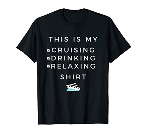(This is My Cruising Drinking Shirt - Tee for Cruise Vacation)