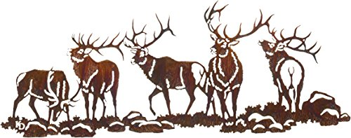 Thirstystone Boys Night Out 'Elk Scene' Over The Door Wall Art, 30-Inch