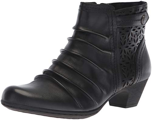 Rockport Women's Brynn Panel Boot Ankle, Black, 8 M US (Rockport Boot Women)