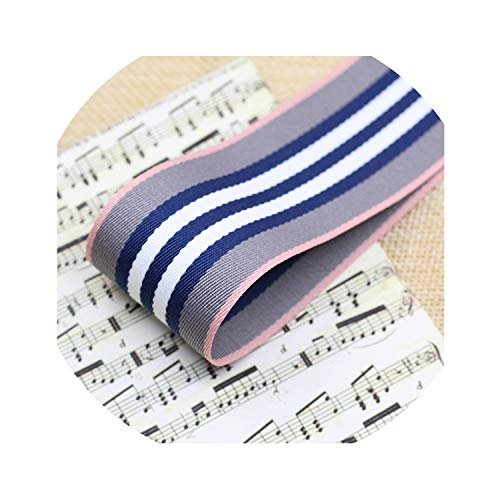 New 1 Yard (38Mm 25Mm) Stripe Ribbons Handmade Tape Satin Ribbon for Decorative Arts and Crafts,38Mm Gray ()