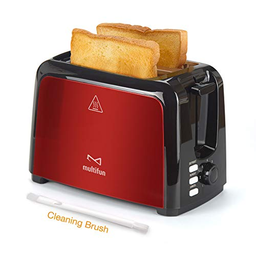 2 Slice Toaster, Multifun Stainless Steel Toaster with Warm Rack, Removable Crumb Tray, 7 Bread Shade Settings, Reheat…