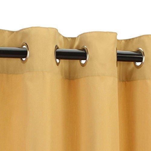 Sunbrella Outdoor Curtain-Nickle Grommets-Wheat by Sunbrella