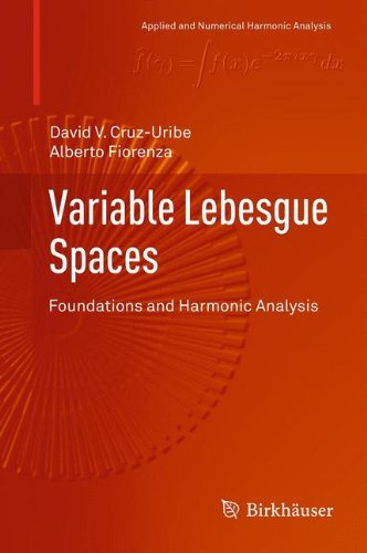 Variable Lebesgue Spaces: Foundations and Harmonic Analysis (Applied and Numerical Harmonic Analysis)