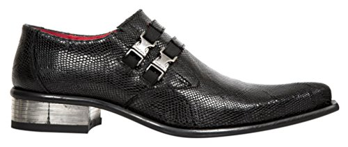 New Rock M 2288 S1, Mocassini Uomo Nero (Black (Nero))