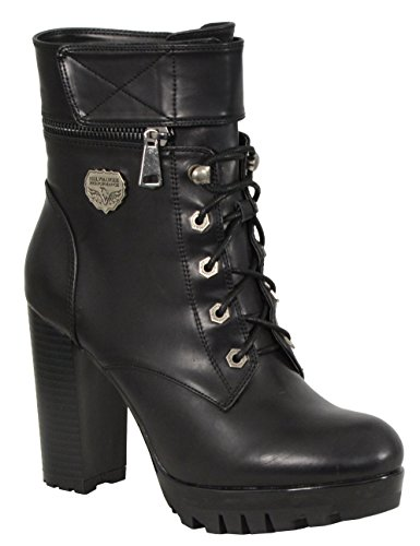 Milwaukee Performance Women's Lace To Toe Boots with Double Height Option (Black, Size 9)