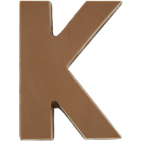 Philadelphia Candies Solid Milk Chocolate Alphabet Letter K, 1.75 Ounce Novelty (Milk Chocolate Lollipop)