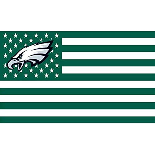 NFL Philadelphia Eagles Stars and Stripes Flag Banner   3x5 FT, White, 3x5 Foot
