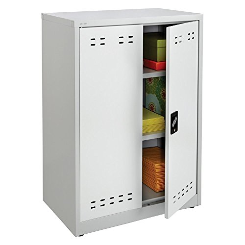 "Safco Products 5531GR Steel Storage Cabinet, 42"" High, Wall"