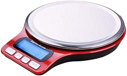 HAR Bilancia da Cucina Elettronica, Alta Precisione 5Kg / 11Lb, Cucina Pesa Grammi E Once, Digitale da Cucina per La Cottura E Forno, Rosso