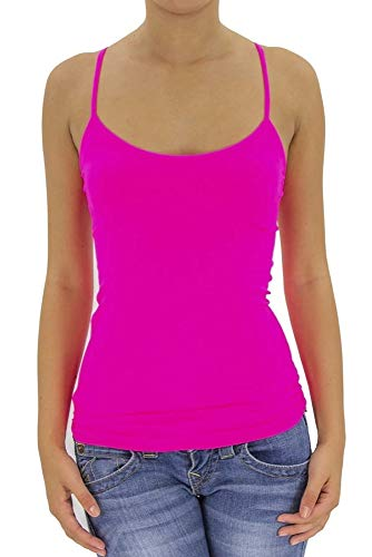 (ITZON Women's Yoga Tank Top Ribbed Seamless Camisoles (Pink))