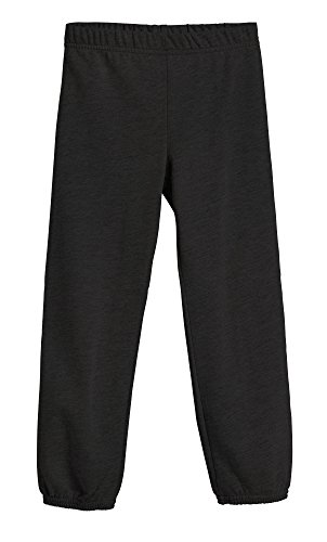 City Style Ankle Pant (City Threads Big Boys and Girls' Soft Fleece sweatpant warmups Jogger Sports Sweats SPD Sensitive Friendly Clothing for Kis, Black, 7)