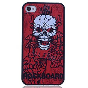 Skull Printing Back Case for iPhone 4/4S