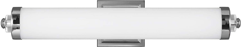 "Feiss WB1830CH-L1 Cook LED Linear Wall Vanity Bar Bath Lighting, 1-Light 20 Watt (27""W x 6""H), Chrome"