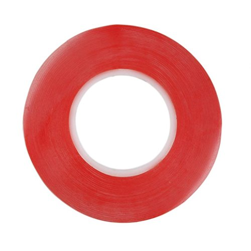 2 Double Film Cell - Potato001 2mm 50M Strong Adhesive Red Film Clear Double-Sided Tape for Mobile Phone