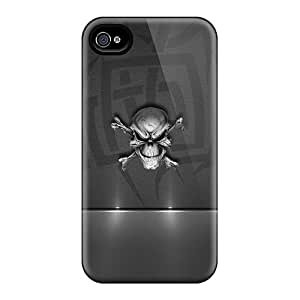 New Snap-on Saraumes Skin Case Cover Compatible With Iphone 4/4s- Skull