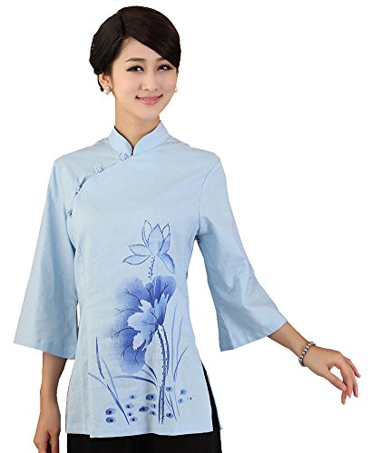 jtc-linen-womens-chinese-style-3-4-sleeve-blouse-lotus-blue-xxxlbust-425