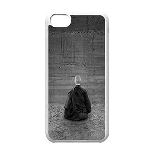 Iphone 5C Case, zen monk Case for Iphone 5C White
