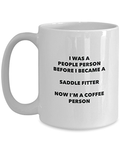 Saddle Fitter Coffee Person Mug - Funny Tea Cocoa Cup - Birthday Christmas Coffee Lover Cute Gag Gifts Idea