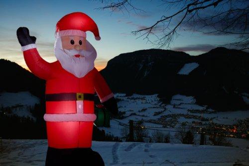 Casetta Di Natale Gonfiabile : Gartenpirat illuminato babbo natale gonfiabile led altezza di