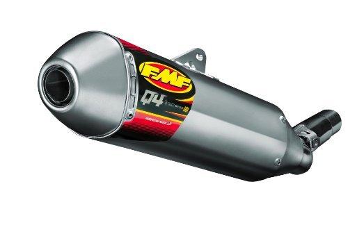 FMF Racing Q4 Spark Arrestor Slip-On - Hexagonal Muffler - Stainless Midpipe, Material: Stainless Steel 044413 by FMF