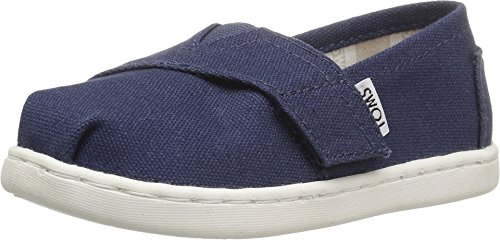 TOMS Kids Unisex Alpargata 2.0 (Infant/Toddler/Little Kid) Navy Canvas Shoe