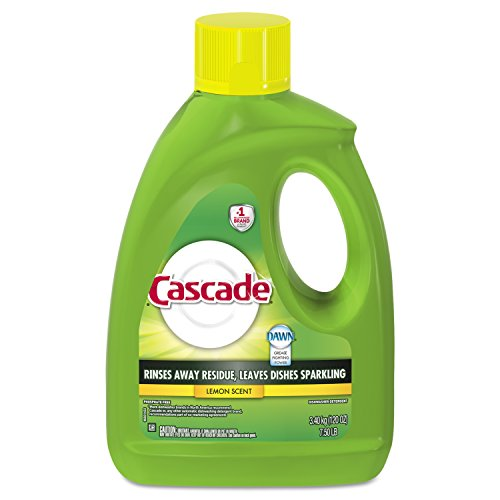 Dishwasher Cascade Automatic (Cascade Gel Dishwasher Detergent, Lemon Scent, 120-Ounce (Pack of 4))