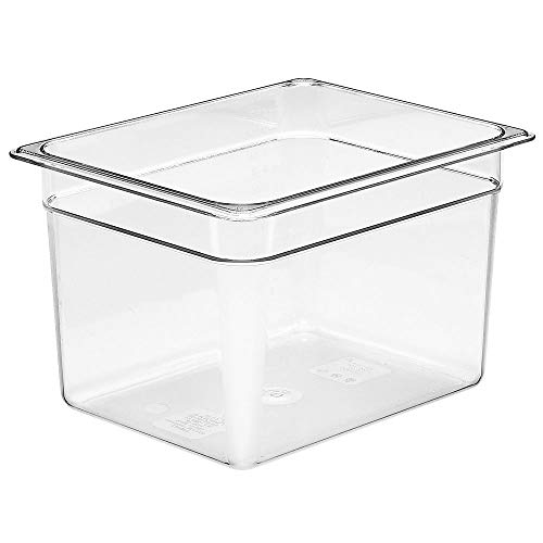 Cambro Camwear 28CW135 Food Pan, 1/2 by 8-Inch, Clear Camwear Clear Food Storage Pan